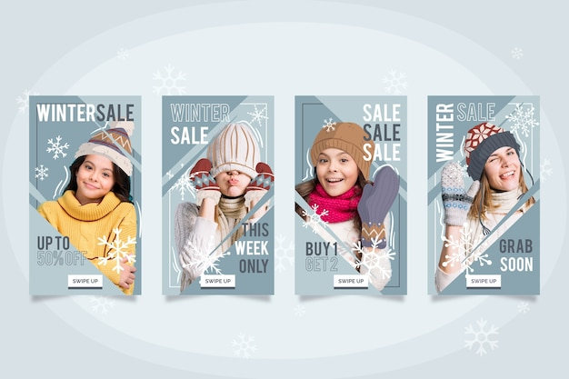 Collezione di racconti instagram vendita invernale
