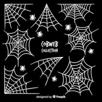 Collezione di ragnatele di halloween