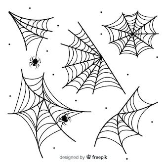 Collezione di ragnatele disegnate a mano
