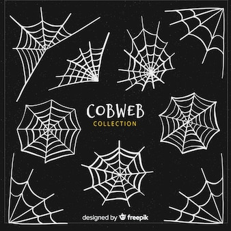 Collezione di ragnatele halloween creativo