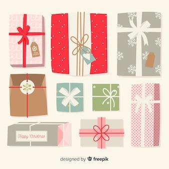 Collezione di regali di natale