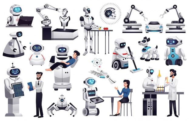 Collezione di robot realistici
