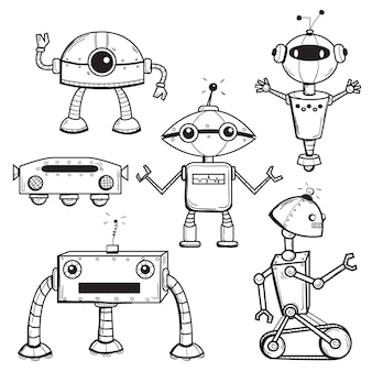 Collezione di robot