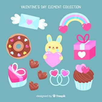 Collezione di san valentino colorato