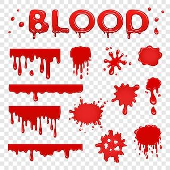 Collezione di sangue splat