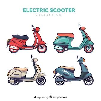 Collezione di scooter elettrici piatti