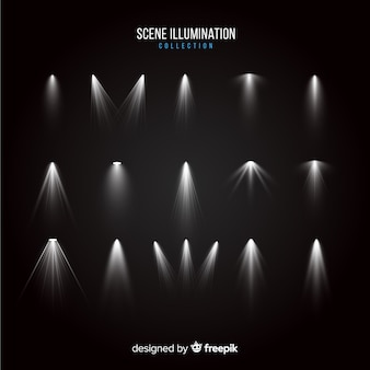 Collezione di scoppi di luce realistici