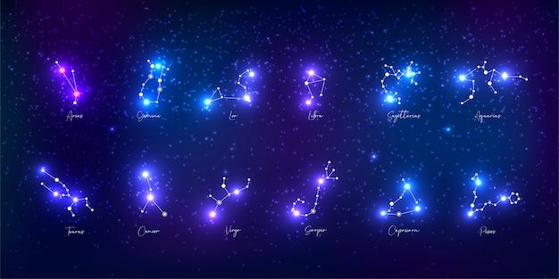 Collezione di segni zodiacali