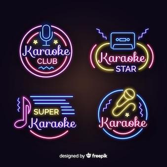 Collezione di segno karaoke luce al neon