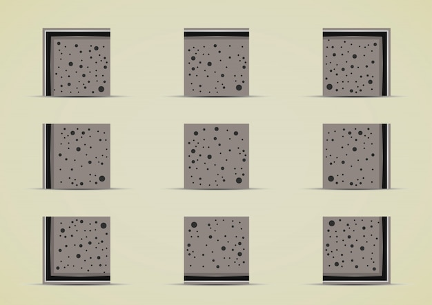 Collezione di serie di piastrelle di pietre
