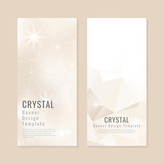 Collezione di sfondo con texture di cristallo