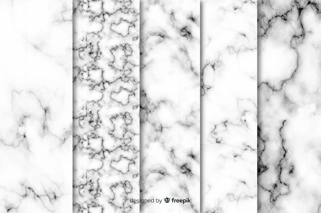 Collezione di sfondo di marmo