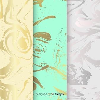 Collezione di sfondo in marmo colorato