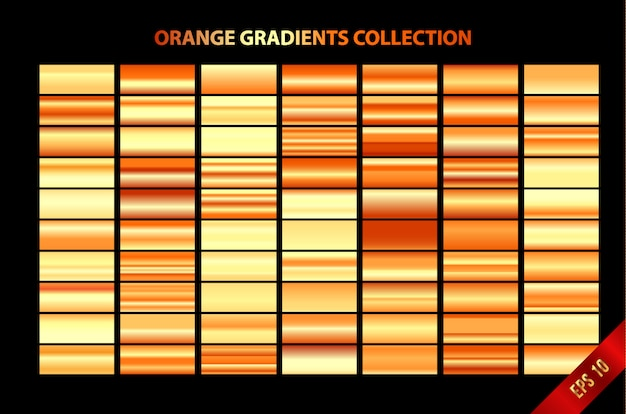 Collezione di sfumature arancioni