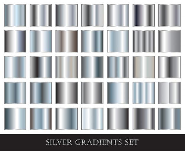 Collezione di sfumature d'argento