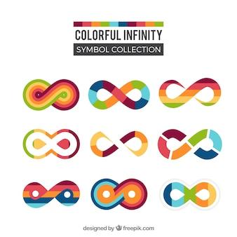 Collezione di simboli colorati infinito