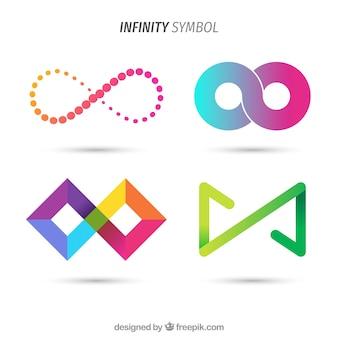 Collezione di simboli infiniti colorati