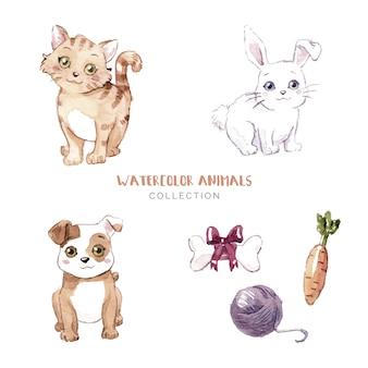 Collezione di simpatici animali