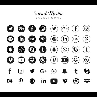 Collezione di social media logo popolare