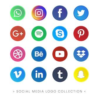 Collezione di social media logo