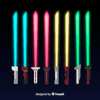 Collezione di spada leggera colorata