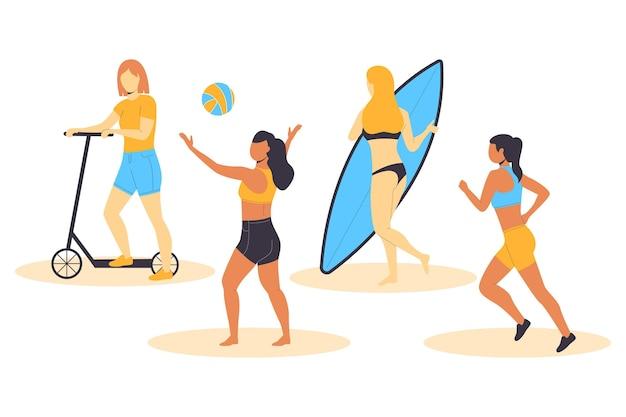 Collezione di sport estivi
