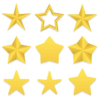 Collezione di stelle a cinque punte