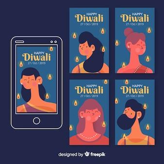 Collezione di storie di diwali instagram