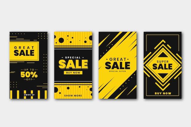 Collezione di storie di instagram di vendita