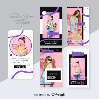 Collezione di storie di moda vendita instagram con foto