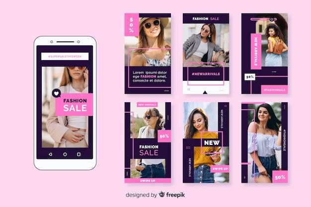Collezione di storie di moda vendita instagram