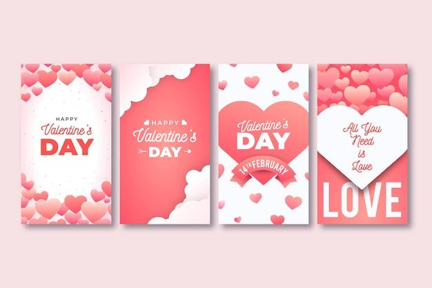 Collezione di storie instagram di san valentino