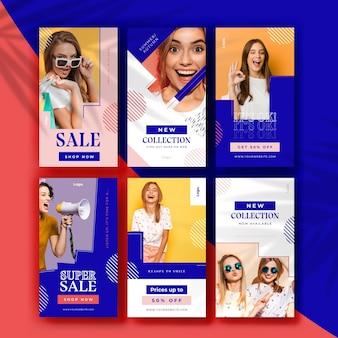Collezione di storie instagram vendita colorata