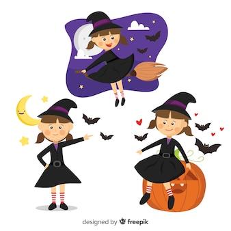 Collezione di streghe di halloween
