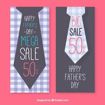 Collezione di striscioni vendita di papà con cravatte