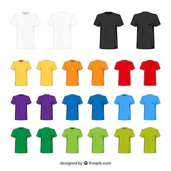 Collezione di t-shirt 2d in diversi colori