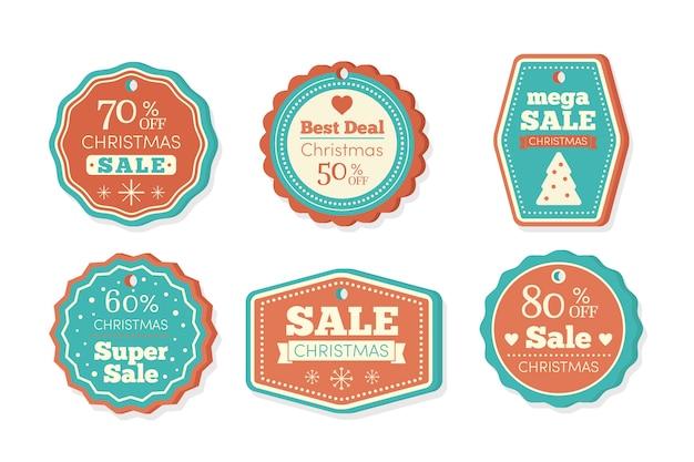 Collezione di tag vendita di natale
