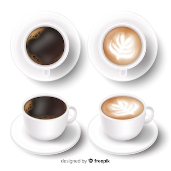Collezione di tazze di caffè