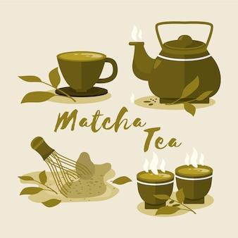Collezione di tè matcha