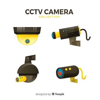 Collezione di telecamere cctv con design piatto