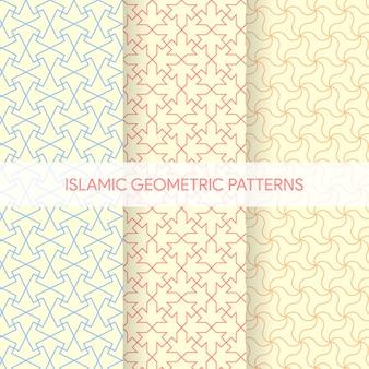 Collezione di texture geometriche islamica senza cuciture