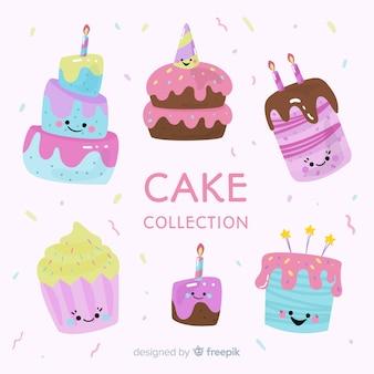 Collezione di torta di compleanno dei cartoni animati