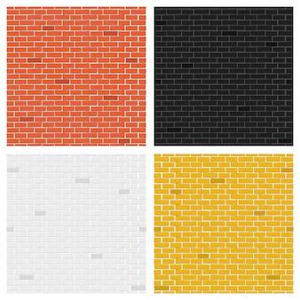 Collezione di trame di mattoni di colore.