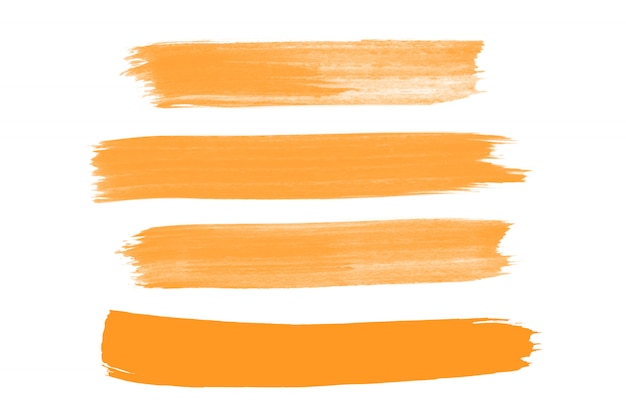 Collezione di tratti di pennello arancione