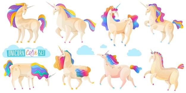 Collezione di unicorni magici