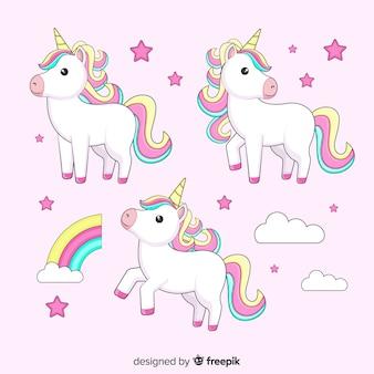 Collezione di unicorno kawaii