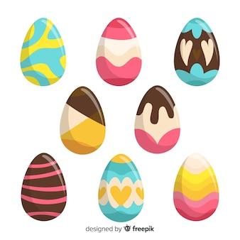 Collezione di uova di pasqua decorate