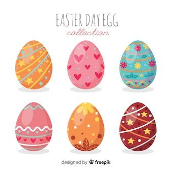 Collezione di uova di pasqua disegnata a mano
