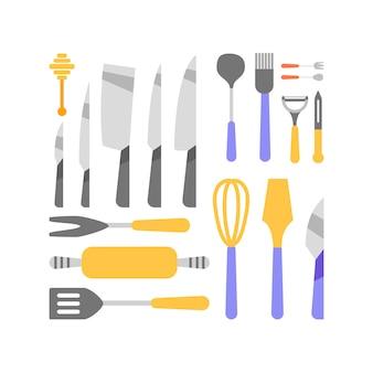 Collezione di utensili da cucina
