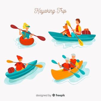 Collezione di viaggi in kayak